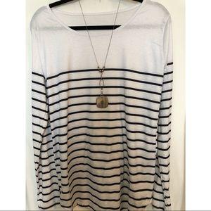 Tops - Medium woman's shirt, black and white medium.